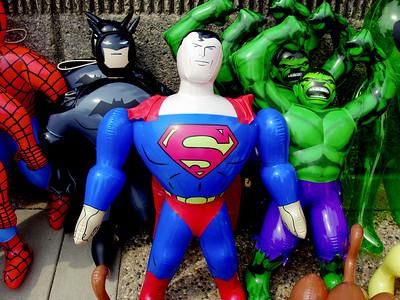 """My Hero""  Superheroes, full of hot air."