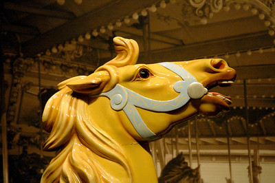 """""""Golden Trio, part two""""  A carousel horse from Louisville's Fontaine Ferry amusement park."""