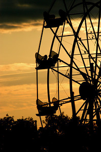 """""""Fair Weather"""" Meet your friends at the Ferris Wheel."""