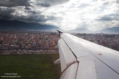 Plane lands at Tribhuvan International airport Kathmandu