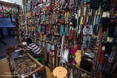 Beeds shop in surroundings of Boudhanath Kathmandu Nepal