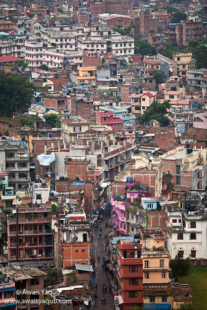 View of Kathmandu city from Swayambhunath