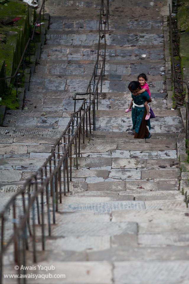 Stairs upto Swayambhunath aka Monkey temple