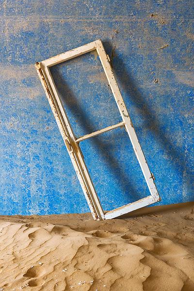 Nam 049 Window Frame, Kolmanskop, Namibia