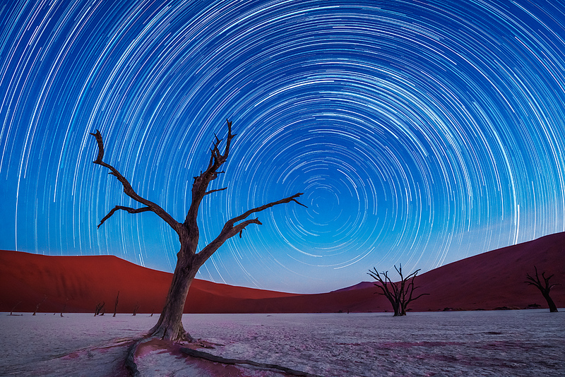 Nam 089 Star Trails, Deadvlei, Namibia
