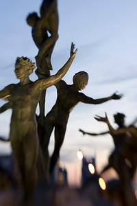 The circle sculpture