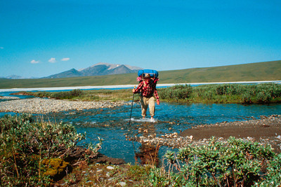 North America, USA, Alaska, Arctic National Wildlife Refuge (ANWR), Backpacker Creek Crossing