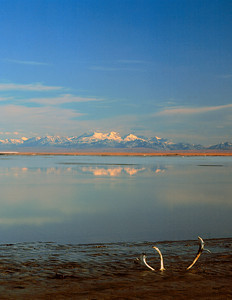 From the Arctic Ocean across the Coastal Plain, North America, USA, Alaska, Arctic National Wildlife Refuge (ANWR)