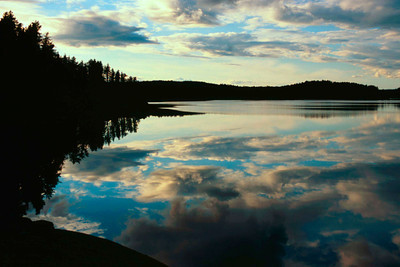 Late Afternoon reflections in the boundry waters of Minnesota-Ontario
