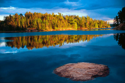 Early Evening reflections in the boundry waters of Minnesota-Ontario
