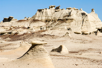 Mushroom and Toadstool Formations in Bisti Wilderness Badlands, New Mexico