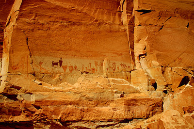 Horseshoe Shelter, mixed figures, Horseshoe Canyon, Canyonlands National Park
