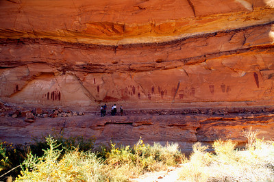 Great Gallery with spectators Horseshoe Canyon Canyonlands National Park