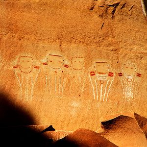 Five Faces located in Davis Canyon, Needles area of Canyonlands National Park, Utah