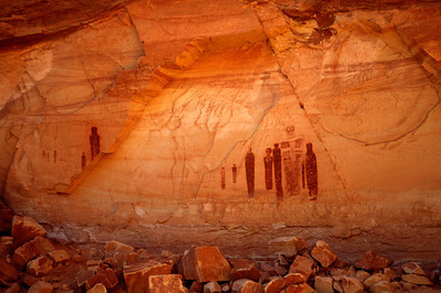 Great Gallery Detail, Horsehoe Canyon, Canyonlands National Park