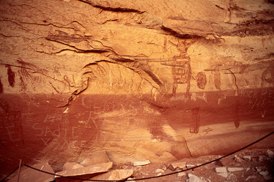 Grand Gallery, Horseshoe Canyonlands National Park, historic and prehistoric pictographs