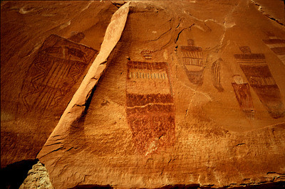 Great Gallery detail, Horseshoe Canyon, Canyonlands National Park