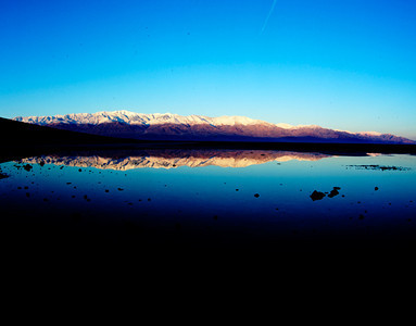 Badwater and Panamint Mountains, Death Valley NP, California