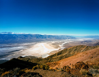 Nobody, North America, USA, California and Nevada, Death Valley National Park, Dante;s View in the Black Mountains provides a Panoramic view of Death Valley's Badwater Basin and the Panamint Range