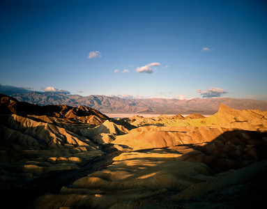 Nobody, North America, USA, California and Nevada, Death Valley National Park, Zabriskie Point and Manley Beacon