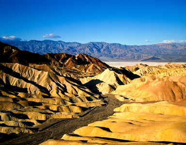 Nobody, North America, USA, California and Nevada, Death Valley National Park, Zabriskie Point