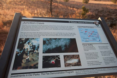 Nobody, North America, USA, New Mexico, El Malpais National Monument, Informational Bilboard
