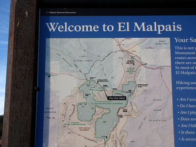 Nobody, North America, USA, New Mexico, El Malpais National Monument, Informational Map