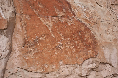 North America, USA, New Mexico, El Morro National Monument. Indian Petroglyphs