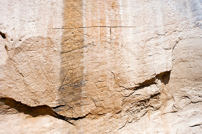 North America, USA, New Mexico, El Morro National Monument. Bluff-side Inscriptions
