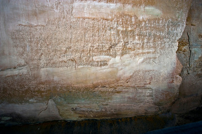 North America, USA, New Mexico, El Morro National Monument, Bluff-side Inscriptions. Stop 22