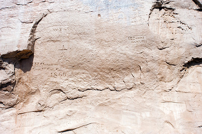 North America, USA, New Mexico, El Morro National Monument, Bluff-side Inscriptions. Stop 13