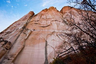 North America, USA, New Mexico, the Scenic Sandstone Bluffs of El Morro National Monument
