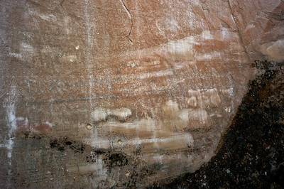 North America, USA, New Mexico, El Morro National Monument, Bluff-side Inscriptions. Stop 17