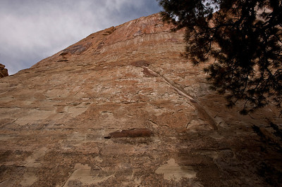 North America, USA, New Mexico, El Morro National Monument.  Inscription Wall