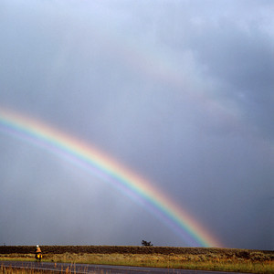Rainbow over Biker,Grand Teton NP