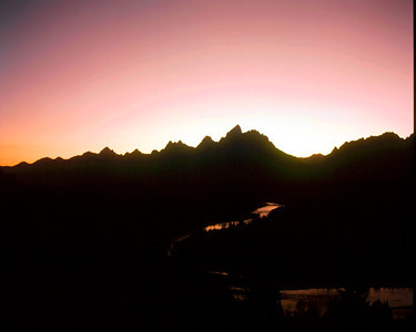 Sunset and the Grand, Grand Teton NP