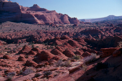 Tent Hills in valley east of Coyote Buttes