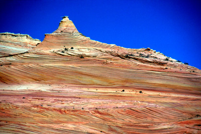 swirls and towers in buttes west of route to the Wave