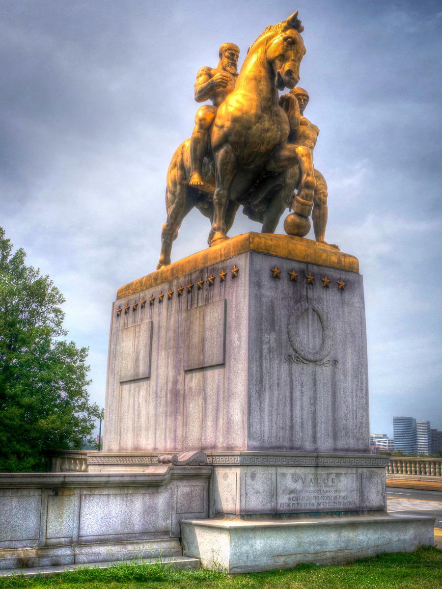 Valor Sculpture - HDR<br /> Arlington Memorial Bridge<br /> Washington D.C.