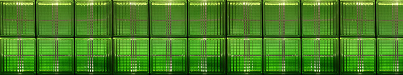 Sunlight Through Green Glass Bricks (3x1080p)