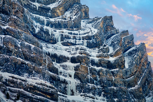 Amazing Layered Rock Formations in Snow and Ice