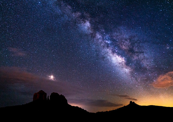 Vibrant Milky Way over Castle Rock, Sedona, AZ