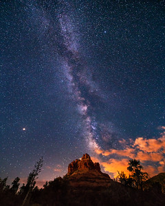 Milky Way Watching Over Bell Rock, Sedona, AZ