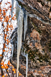 Icicle Formations in Rock Canyon, UT - 2019