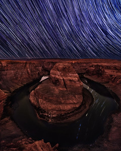032 - Horseshoe Bend Star Trails, Page Arizona