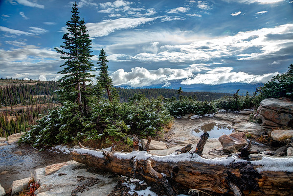 068 - Beautiful, Cold,  Snowy Bald Mountain, Utah