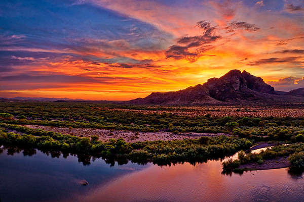 Red Mountain Sunset from Salt River