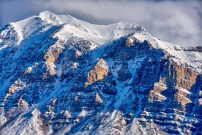 Snow Covered Mount Timpanogos