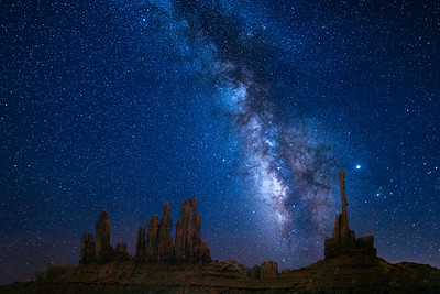 Milky Way Over Totem Pole