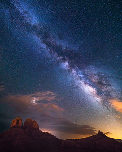 Stars over Castle Rock, Sedona, Arizona